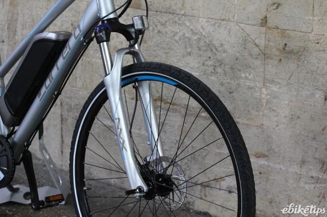Carrera Crossfire-E Womens Electric Bike - fork.jpg