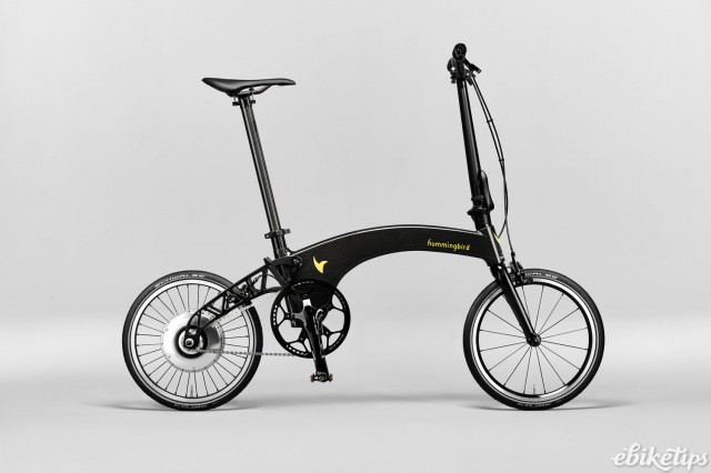 Hummingbird's new folding e-bike in carbon colourway