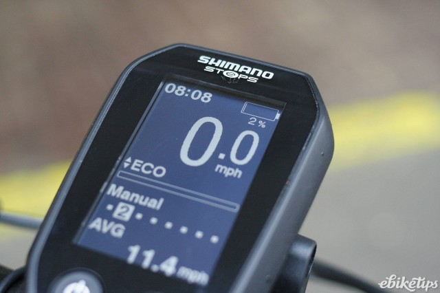 Low battery Shimano STePS