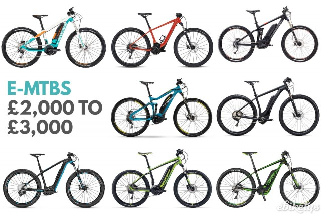 e-MTBs from £2,000 to £3,000