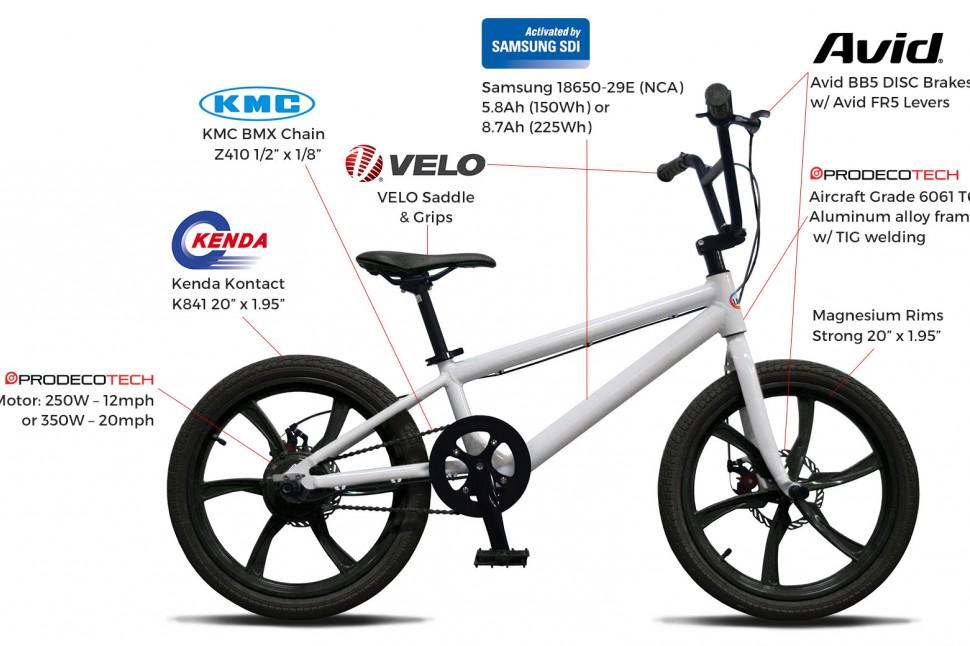 Life EV e-BMX components