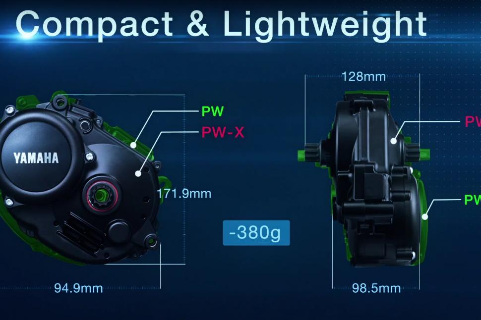 Yamaha PWX - size