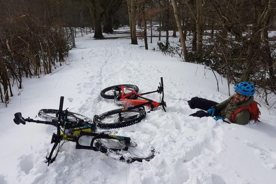 e-MTB snow day 2